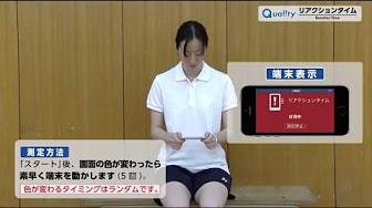 【Quality】<br>リアクションタイム 測定方法