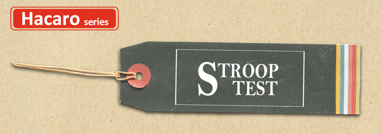 アプリ「ハカロストループテスト」(Hacaro Stroop Test)のタイトル画像です。